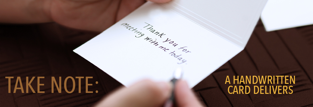 Take note: a handwritten card delivers