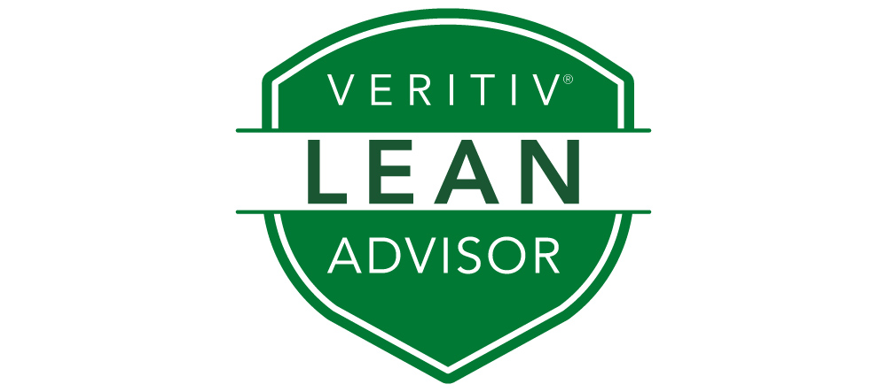 Veritiv Certified LEAN Advisor badge
