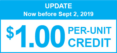 UPDATE. Now before September 2, 2019. $1 per credit.