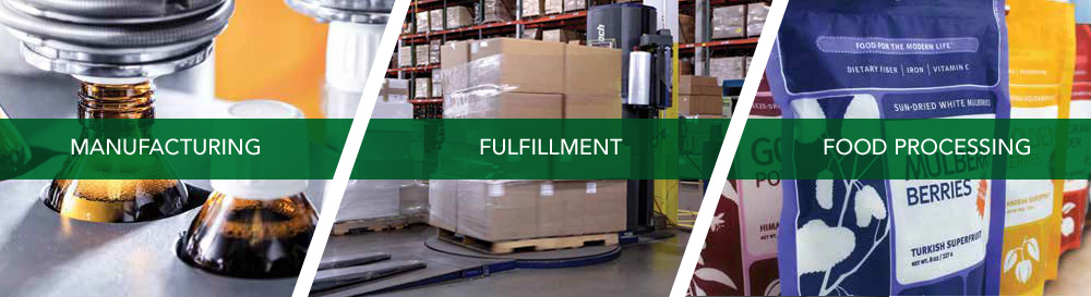 manufacturing, Fulfillment, Food Processing
