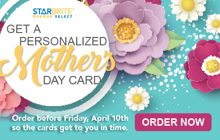 PRT Mothers Day Card Order Starbrite